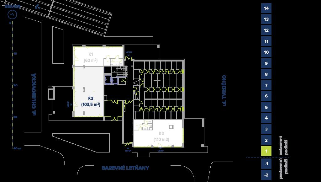 Obchodní prostory CLB@Letňany